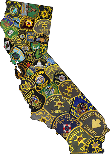 CA Sheriff Badges Collage
