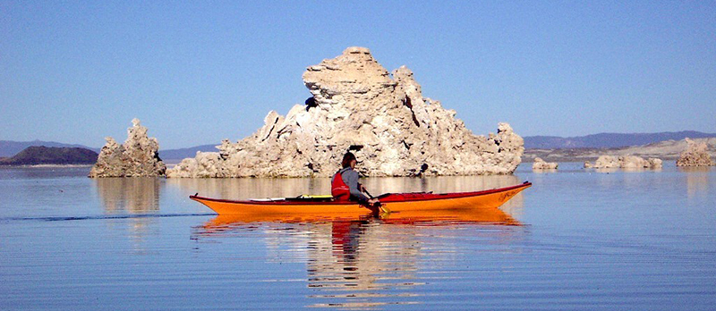 Kayaker at Mono Lake